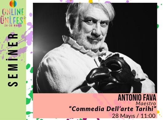 "Antonio Fava / Commedia Dell'arte Tarihi ""Online Seminer"""